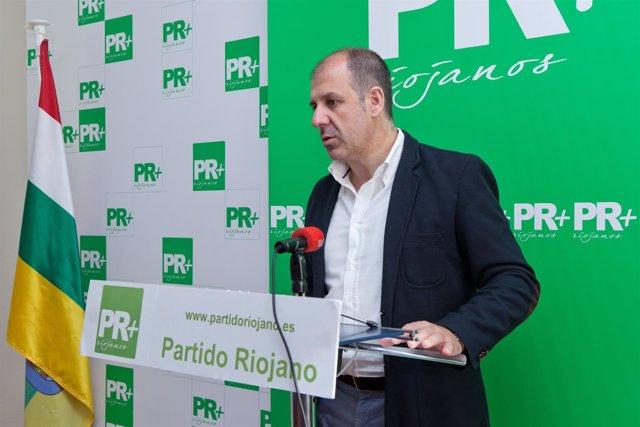 El presidente del Partido Riojano, Miguel González de Legarra