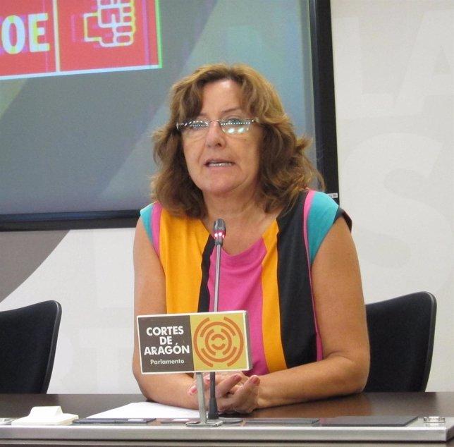 La diputada del PSOE en las Cortes de Aragón, María Victoria Broto