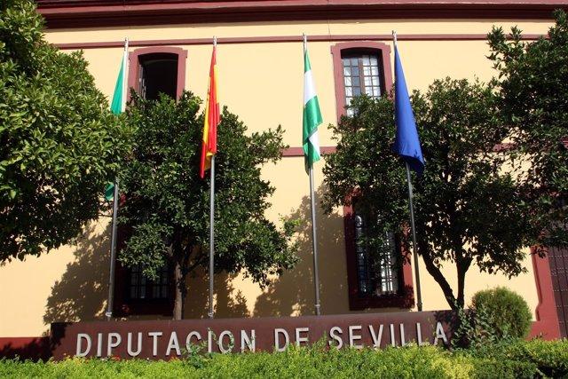 Exteriores del edificio de la Diputación de Sevilla