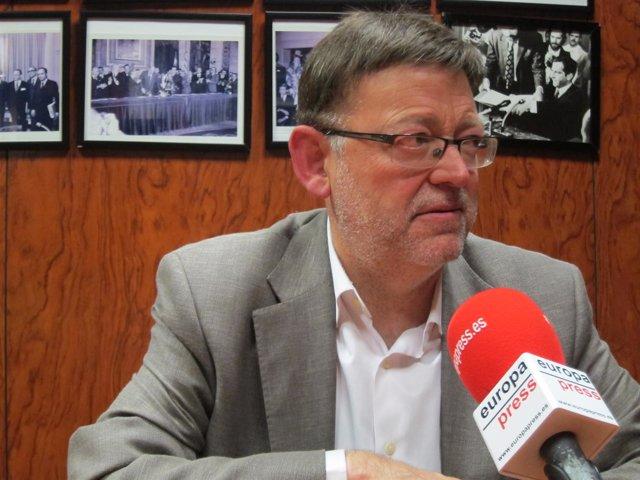 El diputado del PSOE y secretario general del PSPV, Ximo Puig. Archivo