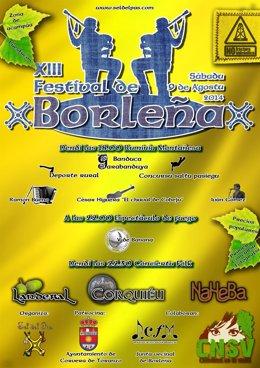 Cartel del Festival de Borleña