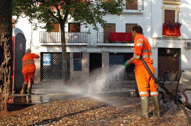 Limpieza viaria en Córdoba