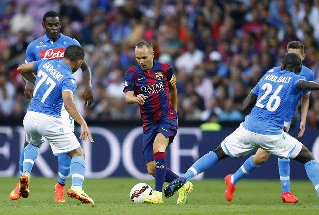 Inesta con el FC Barcelona