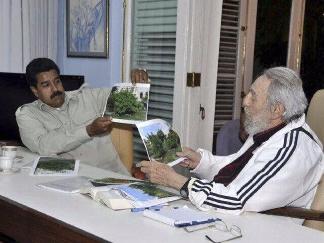 Fidel Castro y Nicolas Maduro