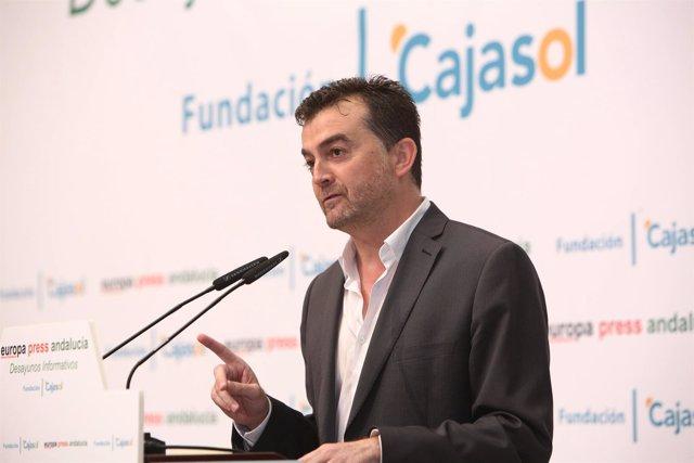 Antonio Maíllo en los desayunos informativos de Europa Press Andalucía