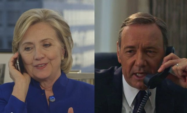Hillary Clinton y Kevin Spacey