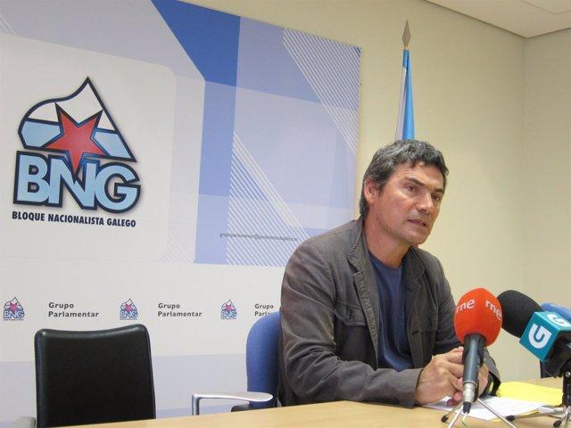 Daniel Rodas, diputado del BNG, en rueda de prensa