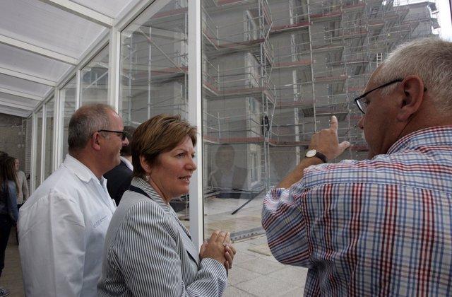 Rocío Mosquera en el Hospital Aquitecto Marcide de Ferrol