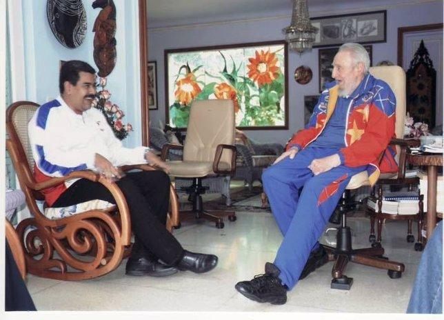 Nicolás Maduro visita en Cuba al expresidente Fidel Castro