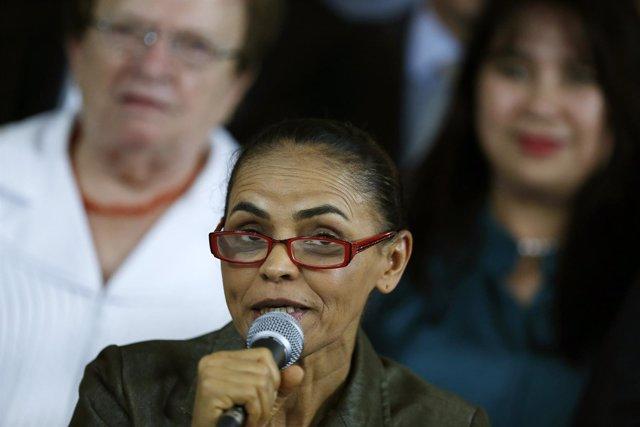 Marina Silva, candidata del PSB a las elecciones presidenciales de Brasil