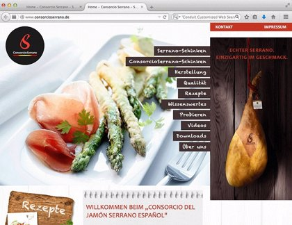 Economía.- El consorcio del jamón serrano español lanza su web en Alemania  para promociarse entre los consumidores