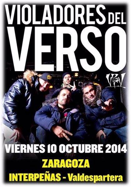Violadores del Verso actúa el próximo 10 de octubre en Zaragoza