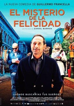 Cartel de la película 'El misterio de la felicidad', de Daniel Burman