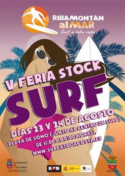 CANTABRIA.-Ribamontán al Mar.- Somo celebra este fin de semana la quinta edición de la Feria del Stock de Surf