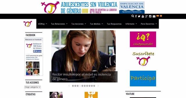 Web 'Adolescentes SIN Violencia de Género'