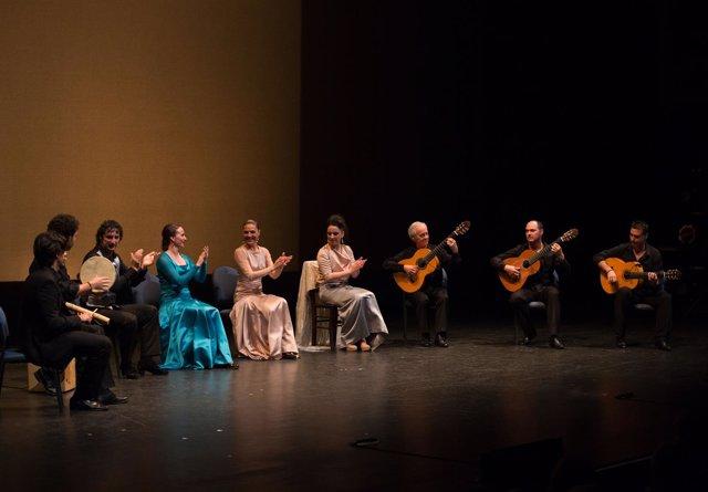Actuación en el espectáculo 'Flamencura' de Paco Peña