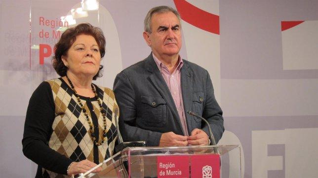 Teresa Rosique y Rafael González Tovar