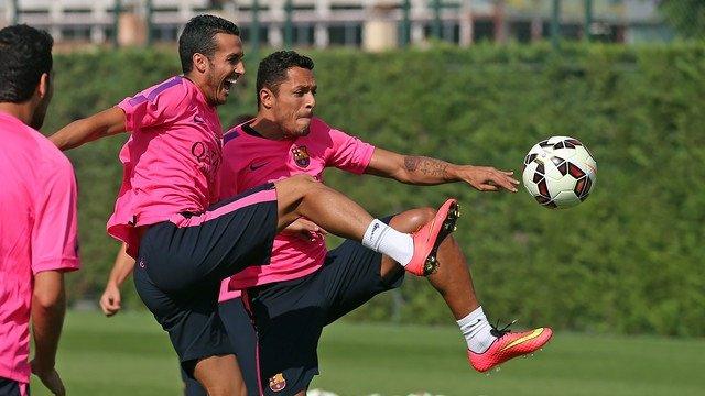 Pedro Rodríguez Adriano Barcelona entrenamiento