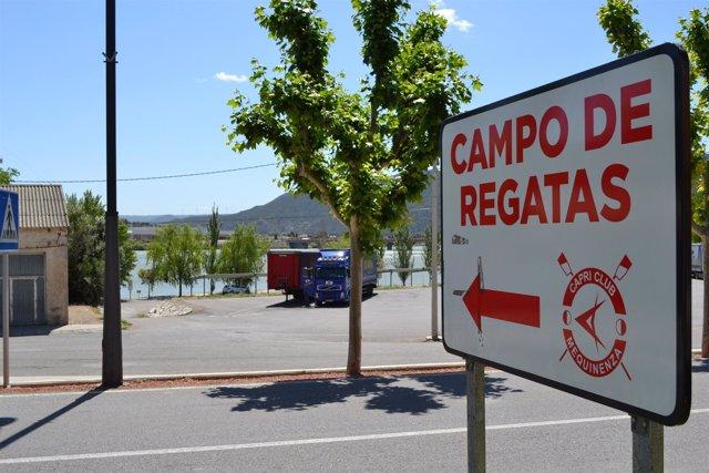 Cartel del Campo de Regatas de Mequinenza