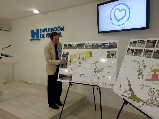 Presentación de obras en el entorno de la Columna del IV Centenario