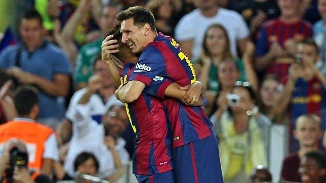Leo Messi Barcelona Neymar Joan Gamper León