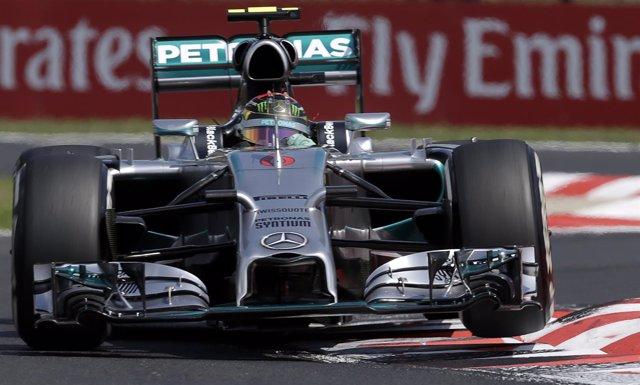 Nico Rosberg en el GP de Hungría