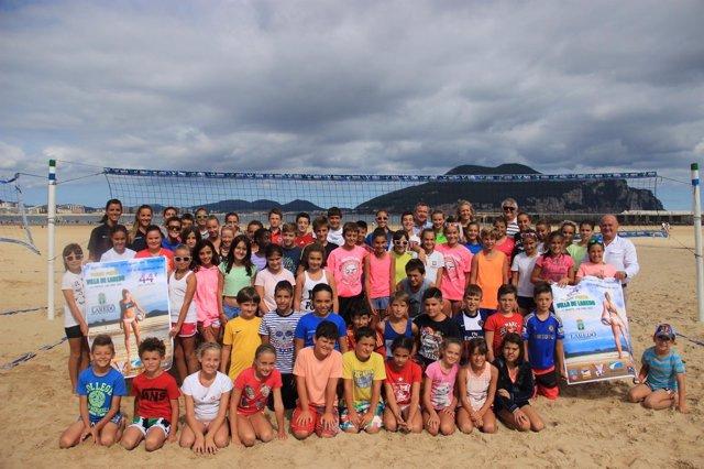 Presentación del Torneo Internacional de Voley Playa de Laredo