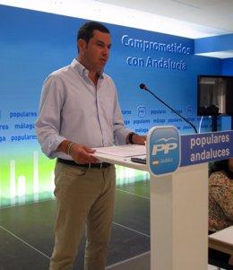 Juanma Moreno preside comité de dirección del PP-A en Málaga