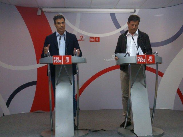 Pedro Sánchez y José Ramón Gómez Besteiro