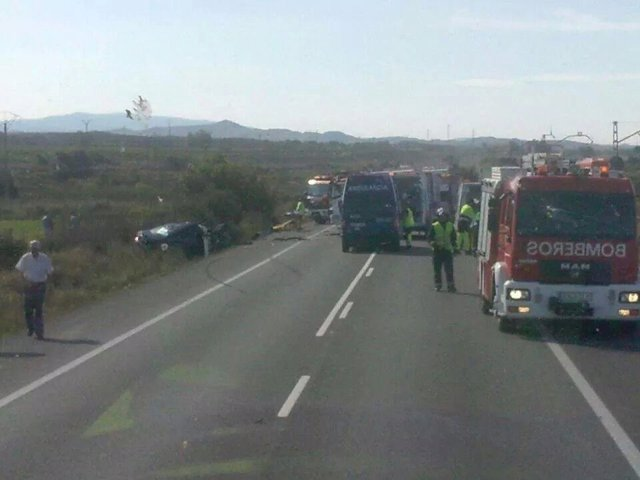 Accidente en la Nacional-232