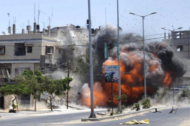 Bombardeo israelí sobre la Franja de GAza
