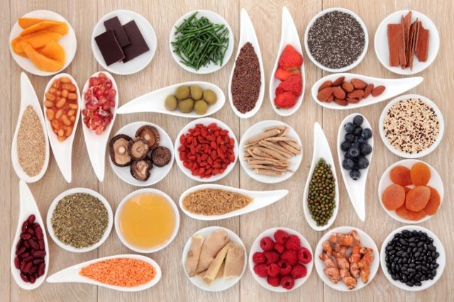 Alimentos, antioxidantes, dieta saludable