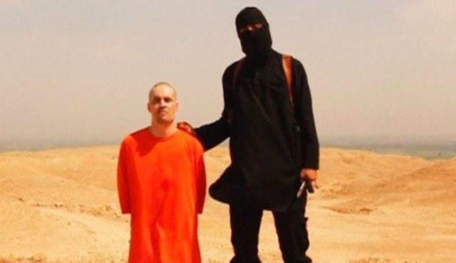 El periodista estadounidense James Foley, momentos antes de la ejecución