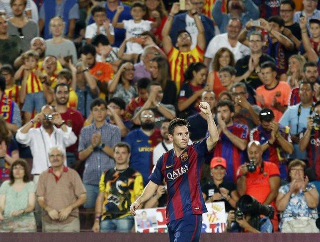 Messi comienza la Liga con dos goles
