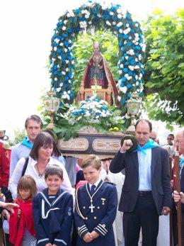 De La Serna Y Diego Portan El Paso De La Virgen Del Mar