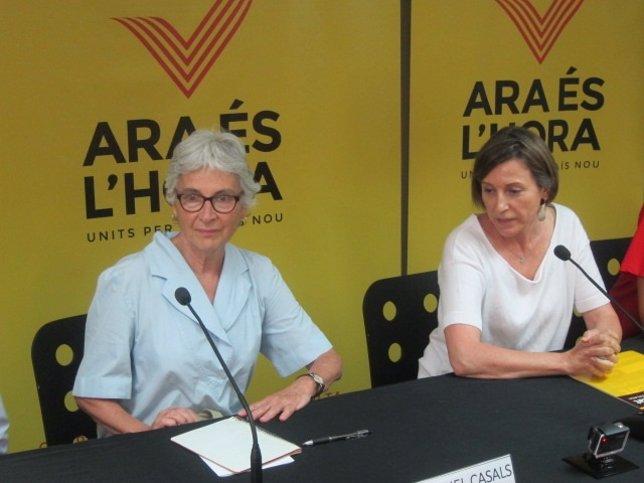 Muriel Casals (Òmnium Cultural)  y Carme Forcadell (ANC)