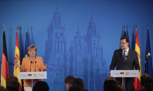 Rueda de prensa de Rajoy y Merkel