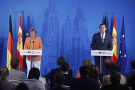 """Rajoy y Merkel esperan que el Consejo """"sea capaz de acordar"""" su presidente y abogan por avanzar en """"integración"""" europea"""