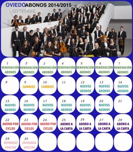 Calendario abonos OSPA 2014-2015