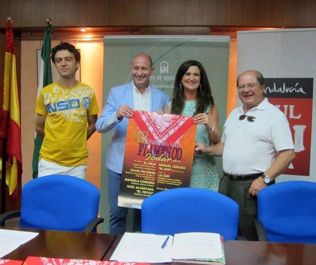 Blanco, Hidalgo, Caballero y Valera presentan el 43 festival flamenco de Jódar.