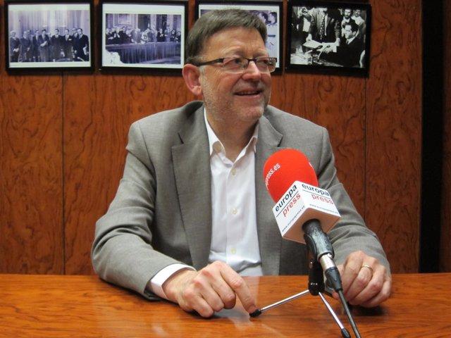 El diputado del PSOE y secretario general del PSPV, Ximo Puig