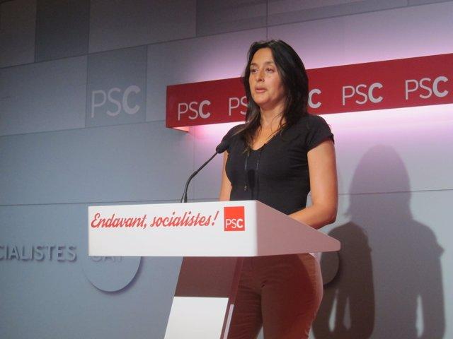 La portavoz del PSC, Esther Niubó