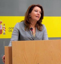 Carmen Crespo, en rueda de prensa