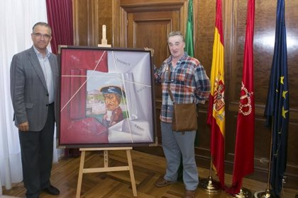 Antonio Laita dona a Pamplona el cuadro 'Quiero ser como Sarasate'