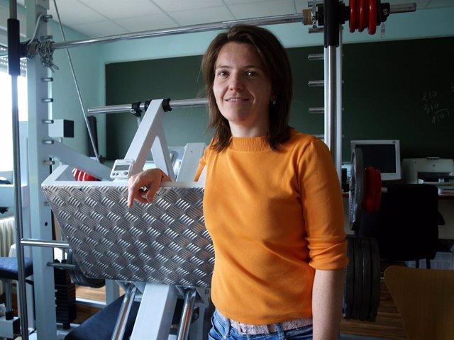 La investigadora de la UZ, Nuria Garatachea, en su laboratorio