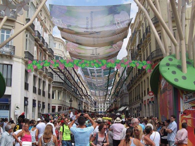 Feria Centro Día, Málaga, Gente, Calle Larios, turismo