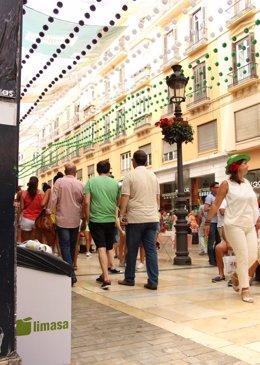 Feria de Málaga 2014 centro limpieza Limasa papeleres