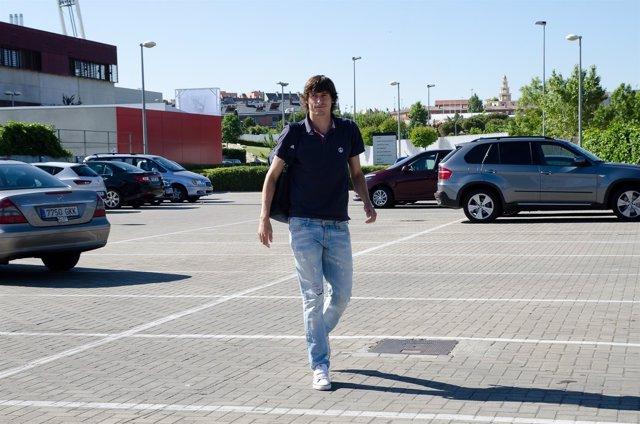 Ander Iturraspe en la concentración de la selección española