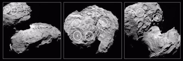 Sitios aterrizaje Rosetta