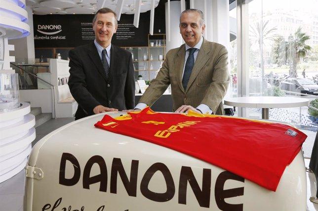 Jérôme Boesch (Danone) y José Luis Sáez (FEB)